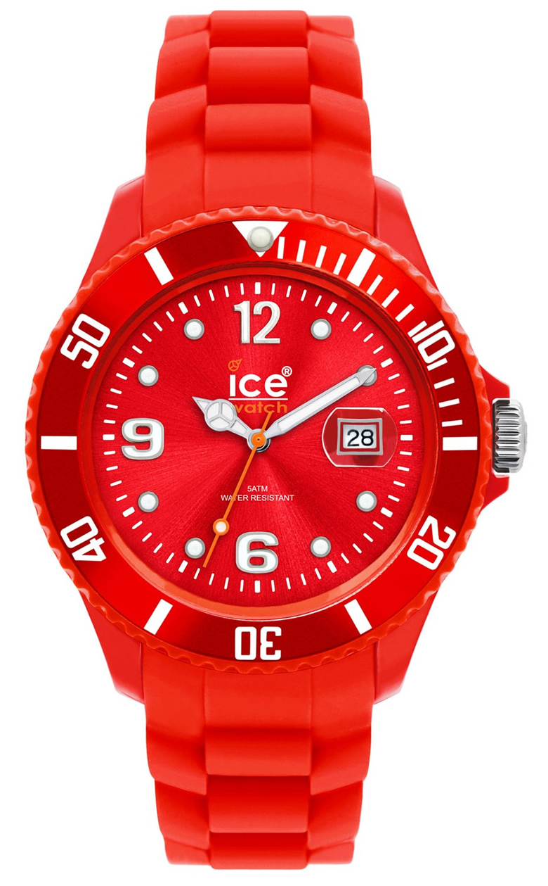 ice watch red silicone small si rd s s from timewatchshop free delivery in the uk. Black Bedroom Furniture Sets. Home Design Ideas