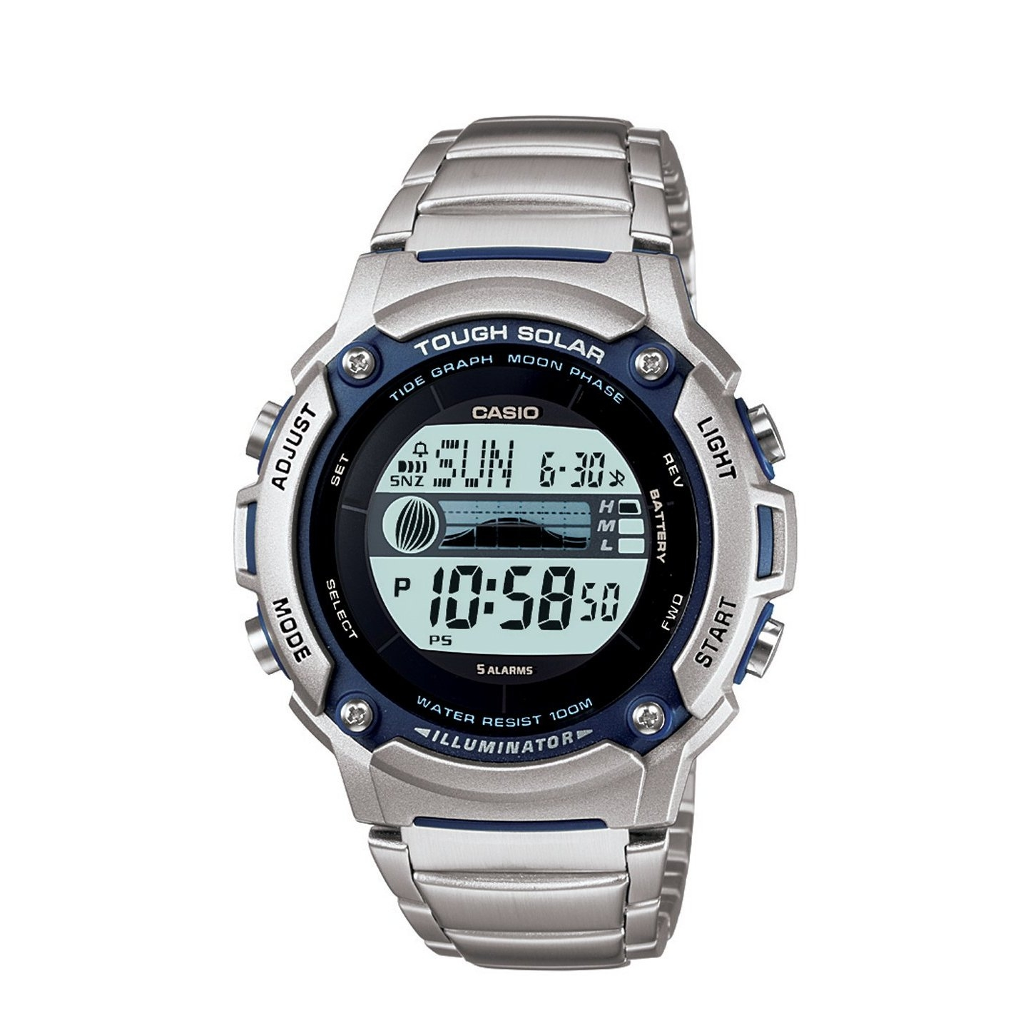 Casio Gents Solar Powered Watch W S210hd 1avcf Plus Belles Jam Safir Ceas Lineage Titan Multiband 6 Olxro