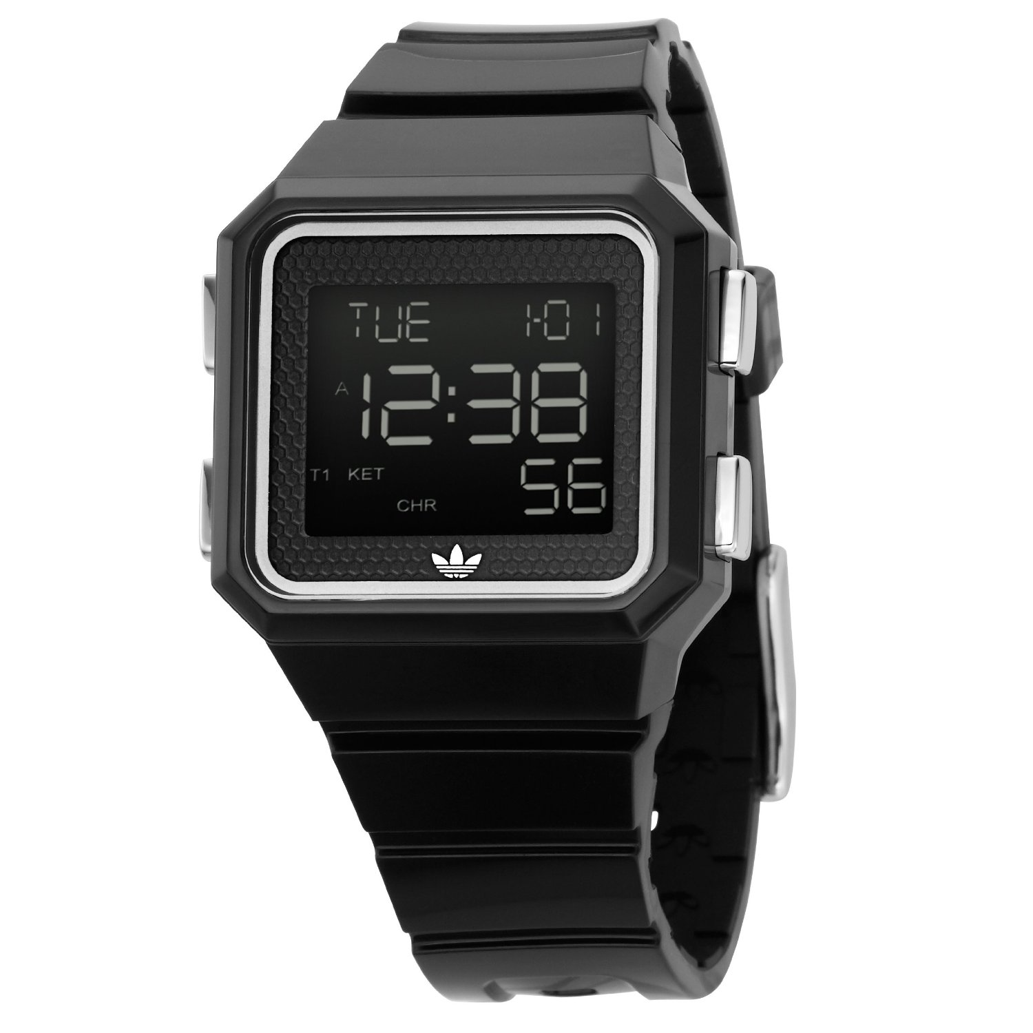 Unisex Black Digital Watch ADH4003