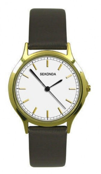 Sekonda Gents Leather Strap Watch 3136