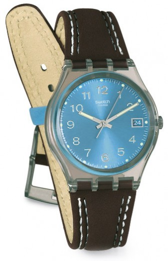 Swatch Blue Choco Watch GM415