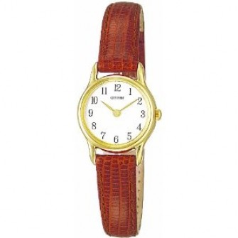 Citizen Ladies Leather Strap Watch EK4592-33C