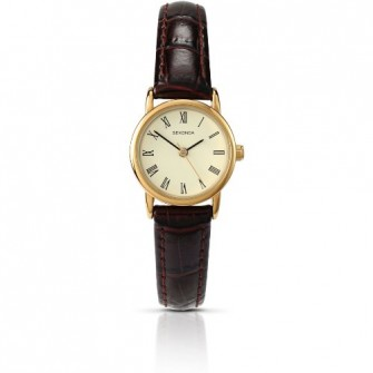 Sekonda Ladies Leather Strap Watch 4458