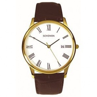 Sekonda Gents Leather Strap Watch 3676