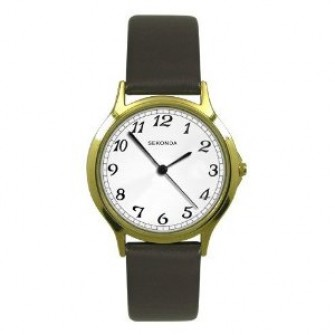 Sekonda Gents Leatherette Strap Watch 3134