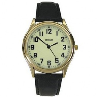 Sekonda Gents Leather Strap Watch 3243