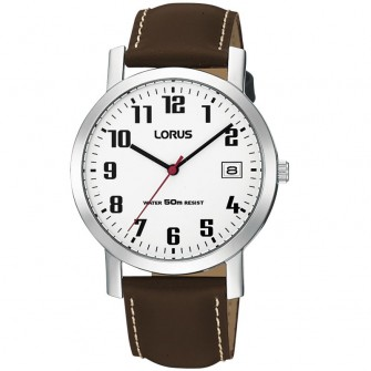 Lorus Gents Leather Strap Watch RXH65EX9