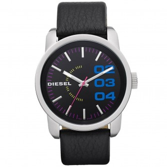 Diesel Gents Leather Strap Watch DZ1514