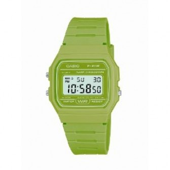 Casio Digital Watch with Green Strap F-91WC-3AEF