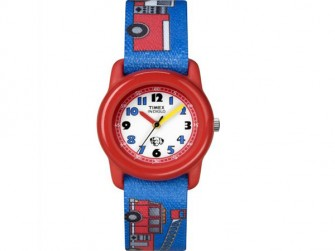Timex Kids Time Teacher Fire Truck Strap Watch T7B704
