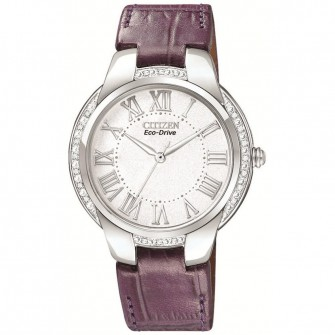 Citizen Ladies Leather Strap Watch EM0090-06A