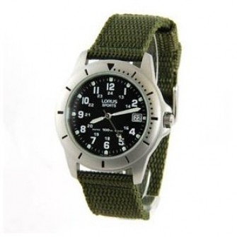 Lorus Gents Fabric Strap Watch RXH001L9