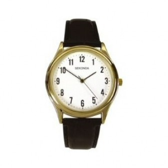 Sekonda Gents Leather Strap Watch 3623