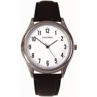 Sekonda Gents Leather Strap Watch 3621