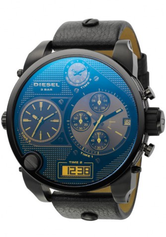 Diesel Gents Leather Strap Watch DZ7127