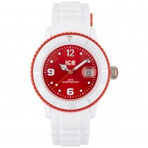 Ice-Watch White Silicone Uni with Red Dial