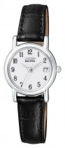 Citizen Ladies Black Leather Strap Eco-Drive