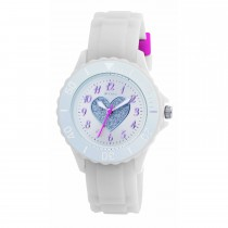 Tikkers White Glitter Heart Watch