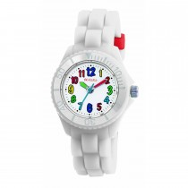 Tikkers White Silicone Strap Watch