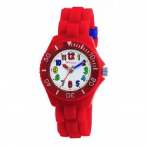 Tikkers Red Silicone Strap Watch