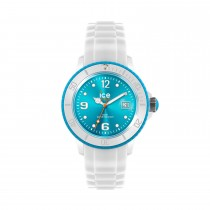 Ice-Watch White Silicone Unisex with Turquoise Dial