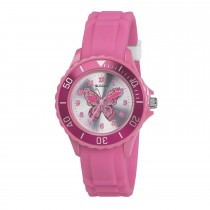 Tikkers Pink Butterfly Watch