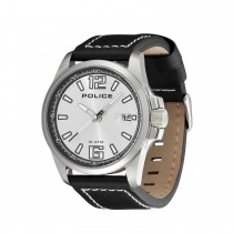 Police Gents Lancer Black Leather Strap Watch
