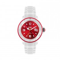 Ice-Watch White Silicone Small with Red Dial