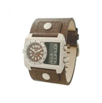 Kahuna Gents Brown Leather Cuff Watch