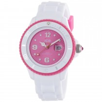 Ice-Watch White Silicone Small with Pink Dial