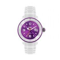 Ice-Watch White Silicone Unisex with Purple Dial