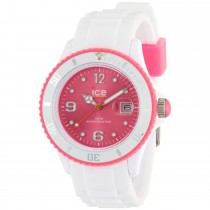 Ice-Watch White Silicone Unisex with Pink Dial