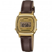 Casio Ladies Digital Leather Strap Watch