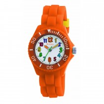Tikkers Orange Silicone Strap Watch
