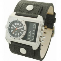 Kahuna Gents Black Leather Cuff Watch
