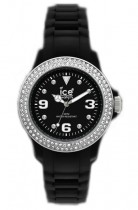 Ice-Watch Stone Set Black Silicone Small