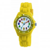 Tikkers Yellow Silicone Strap Watch